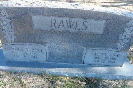 HUFFMAN RAWLS, MARY ANN - Parker County, Texas   MARY ANN HUFFMAN RAWLS - Texas Gravestone Photos