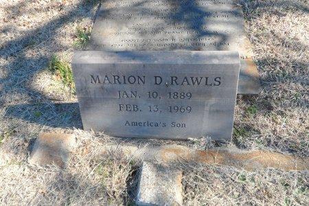 RAWLS, MARION D. - Parker County, Texas | MARION D. RAWLS - Texas Gravestone Photos