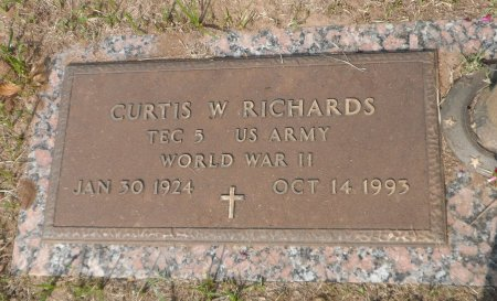 RICHARDS (VETERAN  WWII), CURTIS WELDON - Parker County, Texas | CURTIS WELDON RICHARDS (VETERAN  WWII) - Texas Gravestone Photos