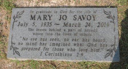 SAVOY, MARY JO - Parker County, Texas   MARY JO SAVOY - Texas Gravestone Photos