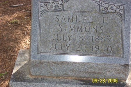 SIMMONS, SAMUEL HENRY - Parker County, Texas   SAMUEL HENRY SIMMONS - Texas Gravestone Photos