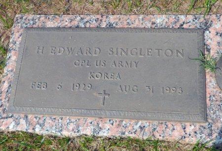 SINGLETON (VETERAN  KOR), HUGH EDWARD - Parker County, Texas | HUGH EDWARD SINGLETON (VETERAN  KOR) - Texas Gravestone Photos