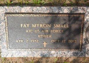 SMALL (VETERAN KOR), FAY MYRON - Parker County, Texas   FAY MYRON SMALL (VETERAN KOR) - Texas Gravestone Photos