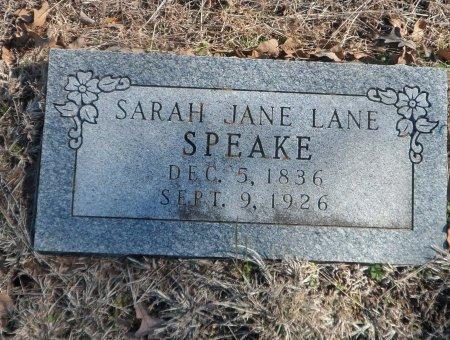 SPEAKE, SARAH JANE - Parker County, Texas | SARAH JANE SPEAKE - Texas Gravestone Photos