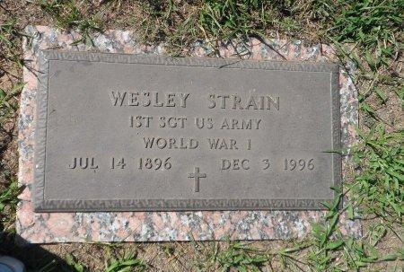 STRAIN (VETERAN WWI), WESLEY - Parker County, Texas | WESLEY STRAIN (VETERAN WWI) - Texas Gravestone Photos