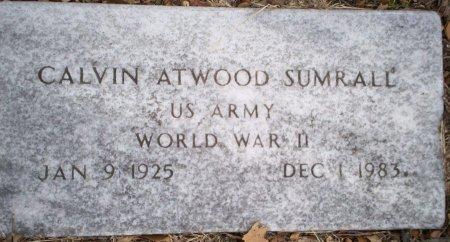 SUMRALL (VETERAN WWII), CALVIN ATWOOD - Parker County, Texas   CALVIN ATWOOD SUMRALL (VETERAN WWII) - Texas Gravestone Photos