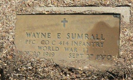 SUMRALL (VETERAN WWII), WAYNE E. - Parker County, Texas   WAYNE E. SUMRALL (VETERAN WWII) - Texas Gravestone Photos
