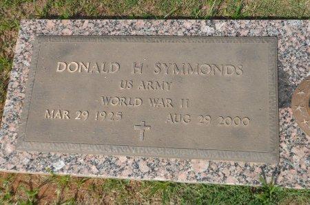 SYMMONDS (VETERAN WWII), DONALD HARRIS - Parker County, Texas | DONALD HARRIS SYMMONDS (VETERAN WWII) - Texas Gravestone Photos
