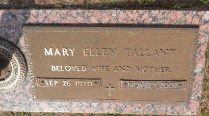 MCPHERSON TALLANT, MARY ELLEN - Parker County, Texas   MARY ELLEN MCPHERSON TALLANT - Texas Gravestone Photos