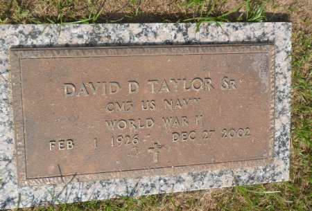 TAYLOR, SR (VETERAN WWII), DAVID DUWARD - Parker County, Texas | DAVID DUWARD TAYLOR, SR (VETERAN WWII) - Texas Gravestone Photos