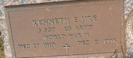 URE (VETERAN WWII), KENNETH ERWIN - Parker County, Texas | KENNETH ERWIN URE (VETERAN WWII) - Texas Gravestone Photos