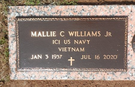 WILLIAMS, JR (VETERAN VIET), MALLIE CARL - Parker County, Texas | MALLIE CARL WILLIAMS, JR (VETERAN VIET) - Texas Gravestone Photos