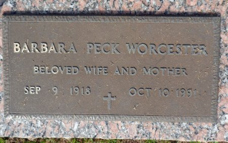 PECK WORCESTER, BARBARA - Parker County, Texas | BARBARA PECK WORCESTER - Texas Gravestone Photos