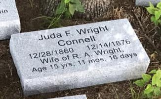 CONNELL WRIGHT, JUDA F. - Parker County, Texas | JUDA F. CONNELL WRIGHT - Texas Gravestone Photos
