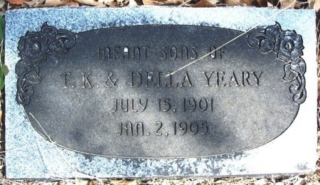 YEARY, INFANT - Parker County, Texas   INFANT YEARY - Texas Gravestone Photos