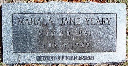 YEARY, MAHALA JANE - Parker County, Texas | MAHALA JANE YEARY - Texas Gravestone Photos
