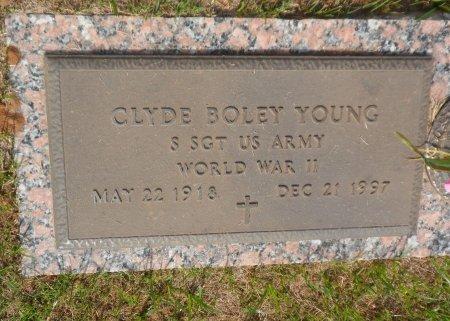YOUNG (VETERAN WWII), CLYDE BOLEY - Parker County, Texas   CLYDE BOLEY YOUNG (VETERAN WWII) - Texas Gravestone Photos