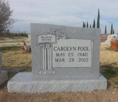 PEPPER POOL, CAROLYN JANE - Pecos County, Texas | CAROLYN JANE PEPPER POOL - Texas Gravestone Photos
