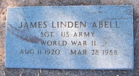 ABELL (VETERAN WWII), JAMES LINDEN - Rains County, Texas | JAMES LINDEN ABELL (VETERAN WWII) - Texas Gravestone Photos