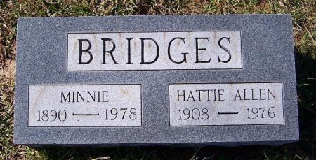 BRIDGES, MINNIE - Rains County, Texas | MINNIE BRIDGES - Texas Gravestone Photos
