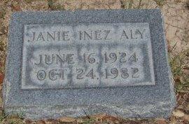 ALY, JANIE INEZ - Reagan County, Texas | JANIE INEZ ALY - Texas Gravestone Photos