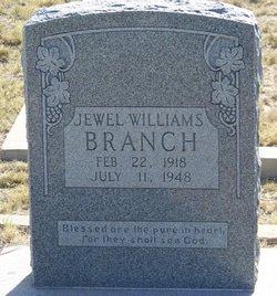 WILLIAMS BRANCH, JEWEL - Reagan County, Texas | JEWEL WILLIAMS BRANCH - Texas Gravestone Photos