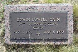 CAIN (VETERAN KOR), EDWIN LOWELL - Reagan County, Texas | EDWIN LOWELL CAIN (VETERAN KOR) - Texas Gravestone Photos