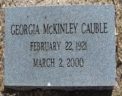 CAUBLE, GEORGIA - Reagan County, Texas | GEORGIA CAUBLE - Texas Gravestone Photos