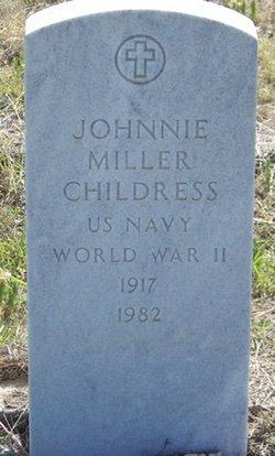 CHILDRESS (VETERAN WWII), JOHNNIE MILLER - Reagan County, Texas | JOHNNIE MILLER CHILDRESS (VETERAN WWII) - Texas Gravestone Photos