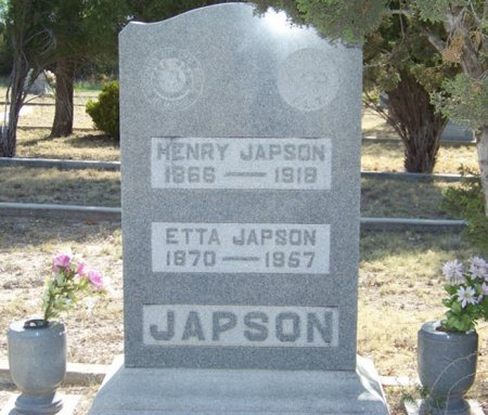 JAPSON, ETTA - Reagan County, Texas   ETTA JAPSON - Texas Gravestone Photos