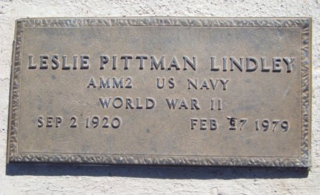 LINDLEY (VETERAN WWII), LESLIE PITTMAN - Reagan County, Texas | LESLIE PITTMAN LINDLEY (VETERAN WWII) - Texas Gravestone Photos