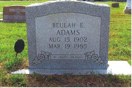 ADAMS, BEULAH E - Red River County, Texas   BEULAH E ADAMS - Texas Gravestone Photos