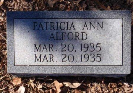 ALFORD, PATRICIA ANN - Red River County, Texas | PATRICIA ANN ALFORD - Texas Gravestone Photos