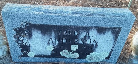 ANDERSON, FRED A (CLOSEUP) - Red River County, Texas | FRED A (CLOSEUP) ANDERSON - Texas Gravestone Photos