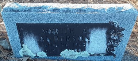 ANDERSON, MYRTLE A (CLOSEUP) - Red River County, Texas   MYRTLE A (CLOSEUP) ANDERSON - Texas Gravestone Photos