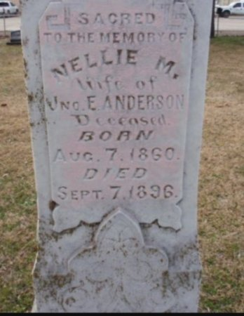 ANDERSON, NELLIE (CLOSEUP) - Red River County, Texas   NELLIE (CLOSEUP) ANDERSON - Texas Gravestone Photos