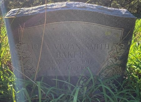 SMITH BAKER, IOLA VIVIAN - Red River County, Texas | IOLA VIVIAN SMITH BAKER - Texas Gravestone Photos