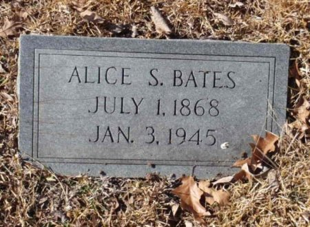 SPENCER BATES, ALICE S - Red River County, Texas | ALICE S SPENCER BATES - Texas Gravestone Photos