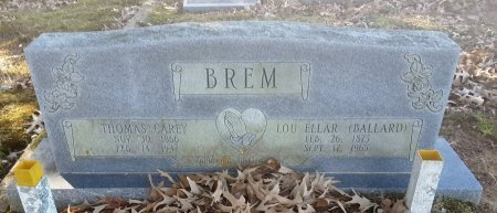 BREM, THOMAS CAREY - Red River County, Texas | THOMAS CAREY BREM - Texas Gravestone Photos