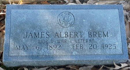 BREM (VETERAN WWI), JAMES ALBERT - Red River County, Texas | JAMES ALBERT BREM (VETERAN WWI) - Texas Gravestone Photos