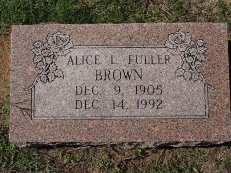 BROWN, ALICE L - Red River County, Texas | ALICE L BROWN - Texas Gravestone Photos