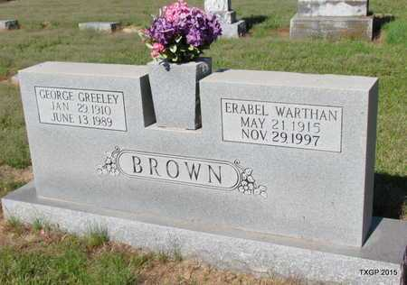 BROWN, GEORGE GREELEY - Red River County, Texas | GEORGE GREELEY BROWN - Texas Gravestone Photos