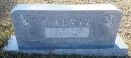 MCFEARIN CALVIT, ELIZABETH ANN - Red River County, Texas   ELIZABETH ANN MCFEARIN CALVIT - Texas Gravestone Photos