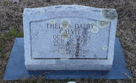 DALBY CALVIT, THELMA  - Red River County, Texas | THELMA  DALBY CALVIT - Texas Gravestone Photos