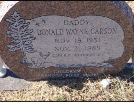 CARSON, DONALD WAYNE - Red River County, Texas   DONALD WAYNE CARSON - Texas Gravestone Photos