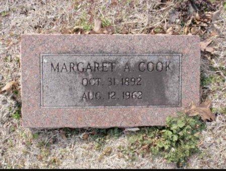 COOK, MARGARET A - Red River County, Texas | MARGARET A COOK - Texas Gravestone Photos