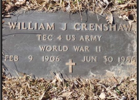 CRENSHAW (VETERAN WWII), WILLIAM J - Red River County, Texas | WILLIAM J CRENSHAW (VETERAN WWII) - Texas Gravestone Photos