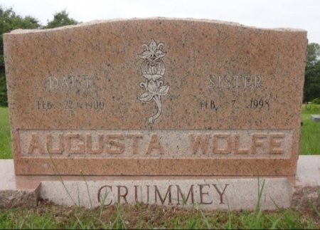 WOLFE CRUMMEY, AUGUSTA - Red River County, Texas | AUGUSTA WOLFE CRUMMEY - Texas Gravestone Photos