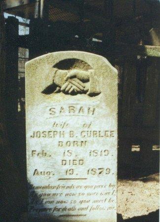 CURLEE, SARAH - Red River County, Texas | SARAH CURLEE - Texas Gravestone Photos