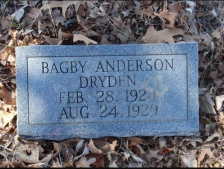 DRYDEN, BAGBY ANDERSON - Red River County, Texas | BAGBY ANDERSON DRYDEN - Texas Gravestone Photos